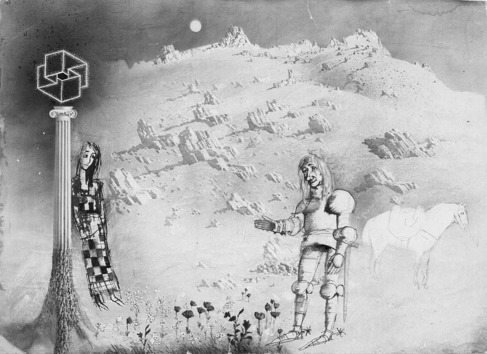 Иллюстрация из книги «Алиса в Зазеркалье»