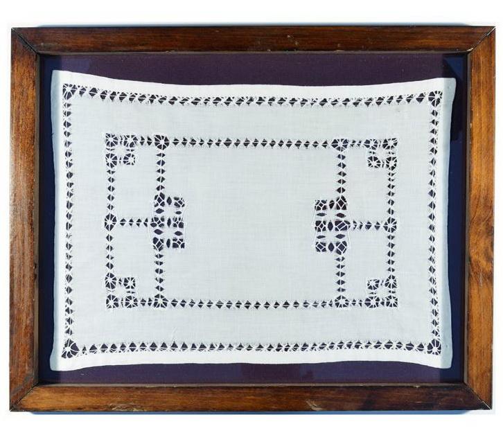 Цианотипия вязаного платка